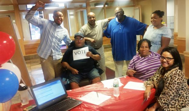 Lantern's Lindenguild residents and staff participate in a Voter Registration Drive