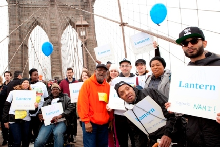 Lantern staff and residents on the NAMI walk for mental illness