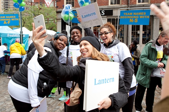 Lantern staff take a selfie before the NAMI walk for mental illness