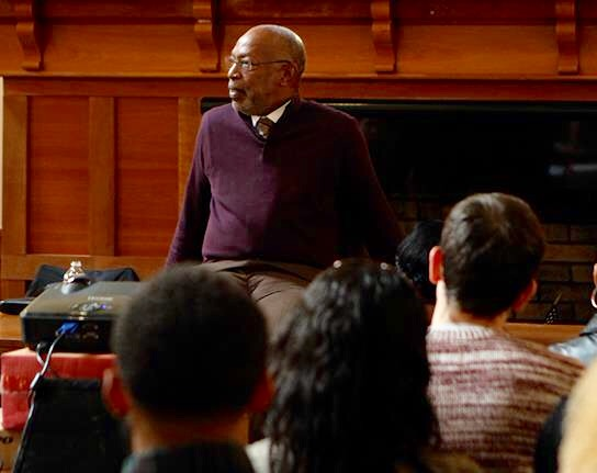 Dr. Richard Dudley Jr. speaks to Lantern staff
