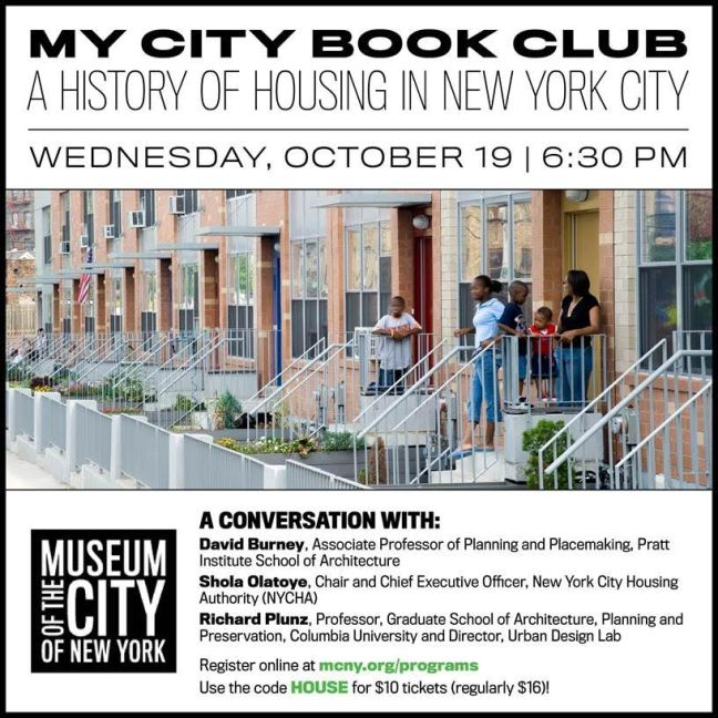 My City Book Club - A History of Housing in New York City