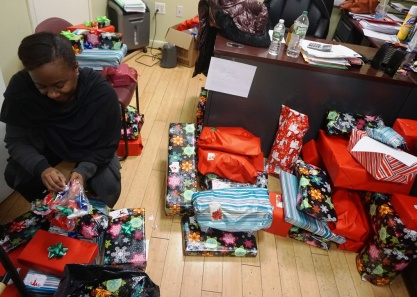 Lantern staff put the final touches on gifts in East Harlem