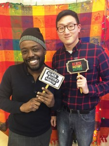 Participants in Rustin House's Black History Month Open Mic